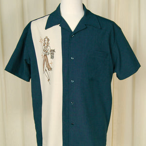 Mai Tai Mirage Bowling Shirt - Cats Like Us