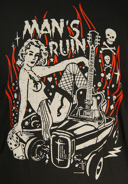 Man's Ruin T Shirt by Steady Clothing : Cats Like Us