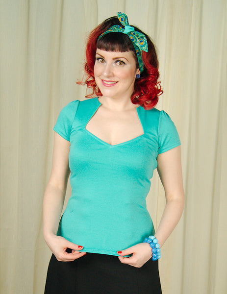 Mint Sexy Sophia Top - Cats Like Us
