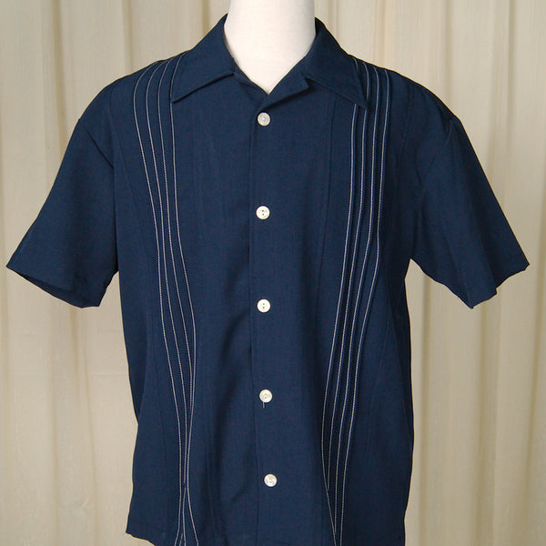 Navy Otis Bowling Shirt