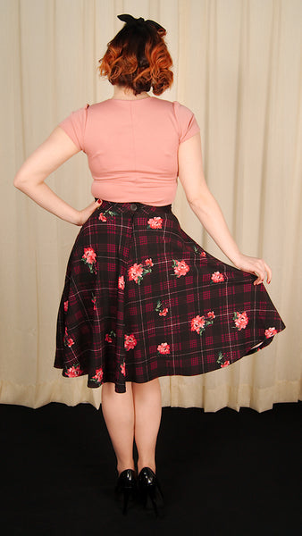 Plaid on Parade Swing Skirt