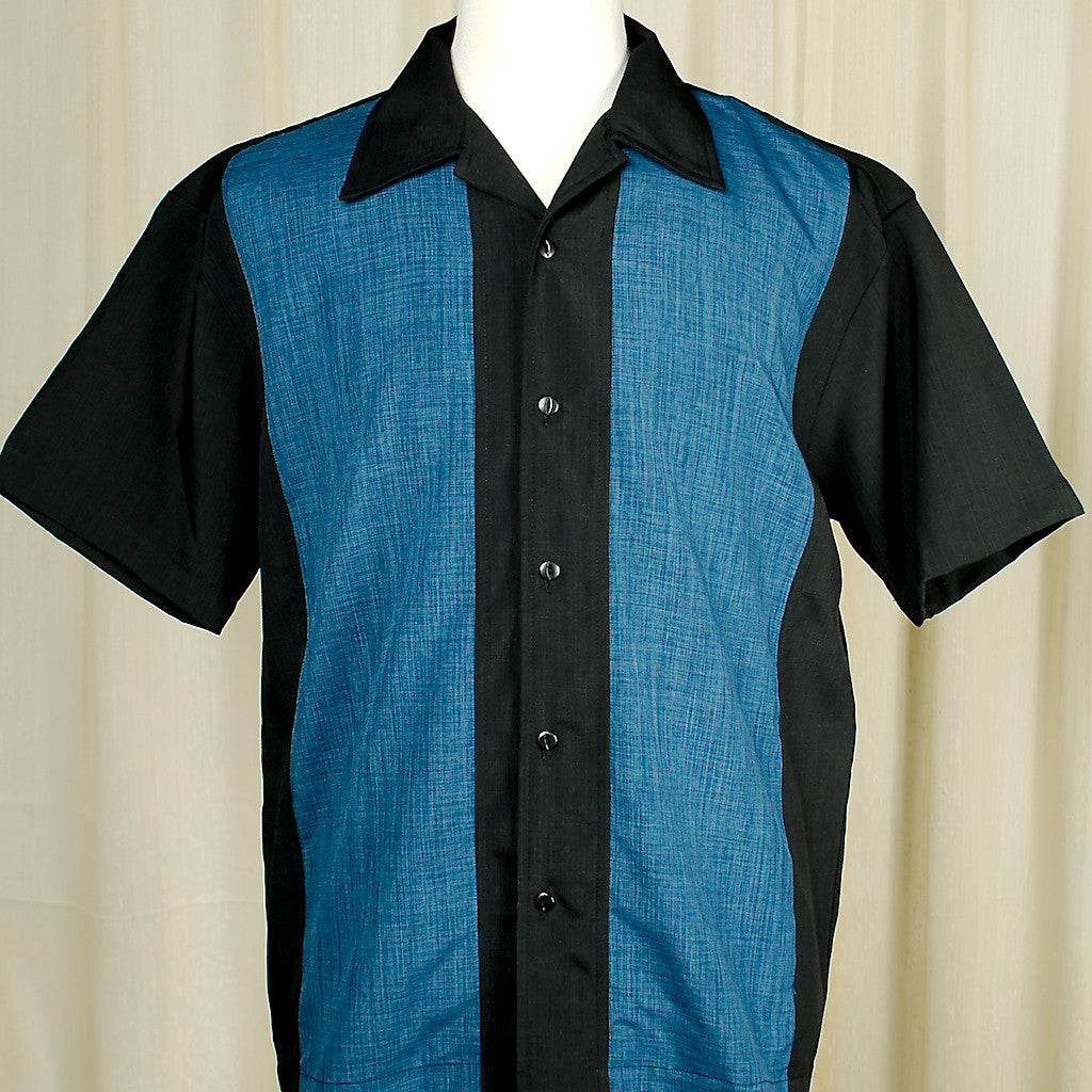 Pop Check Blue Panel Shirt by Steady Clothing : Cats Like Us