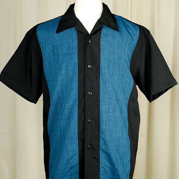 Steady Clothing Pop Check Blue Panel Shirt for sale at Cats Like Us - 1