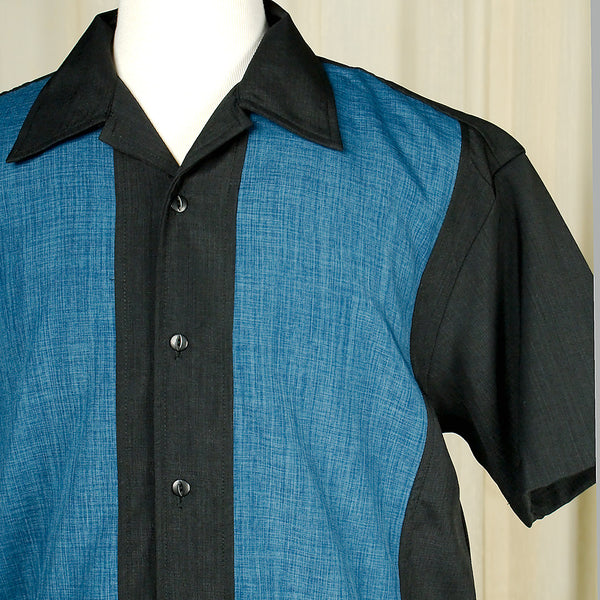 Steady Clothing Pop Check Blue Panel Shirt for sale at Cats Like Us - 2