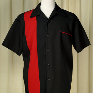 Red Poplin Single Panel Shirt - Cats Like Us