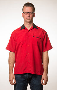Red Steady Bowler Shirt by Steady Clothing : Cats Like Us