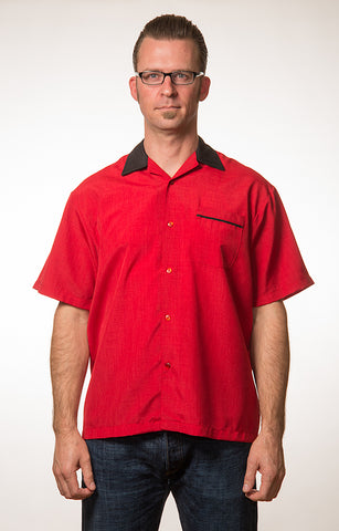 Red Steady Bowler Shirt - Cats Like Us