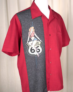 Route 66 Pinup Panel Shirt