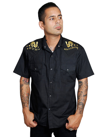 Sun Rooster Crow Western Shirt by Steady Clothing : Cats Like Us