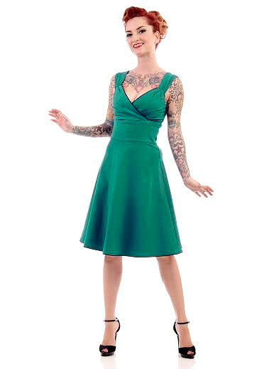 Steady Clothing Teal Diva Swing Dress for sale at Cats Like Us - 1