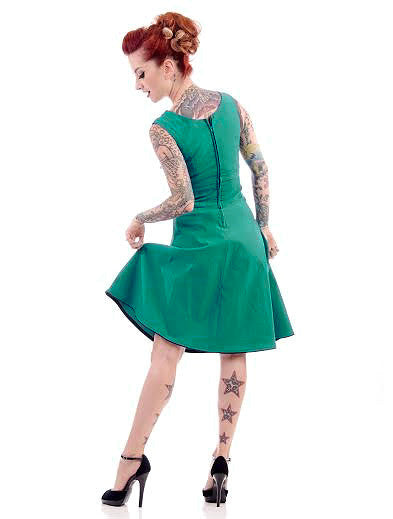 Steady Clothing Teal Diva Swing Dress for sale at Cats Like Us - 2
