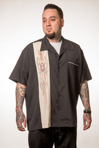 Steady Clothing V-8 Pinstripe Panel Shirt for sale at Cats Like Us - 1
