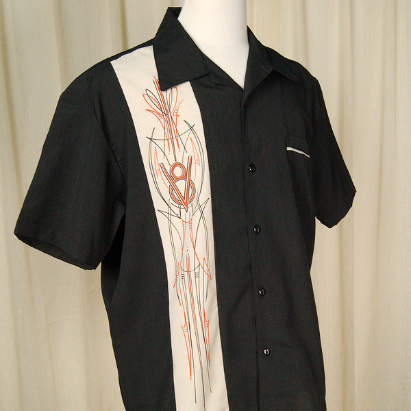Steady Clothing V-8 Pinstripe Panel Shirt for sale at Cats Like Us - 5