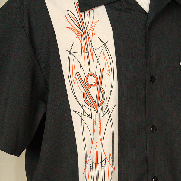 Steady Clothing V-8 Pinstripe Panel Shirt for sale at Cats Like Us - 6
