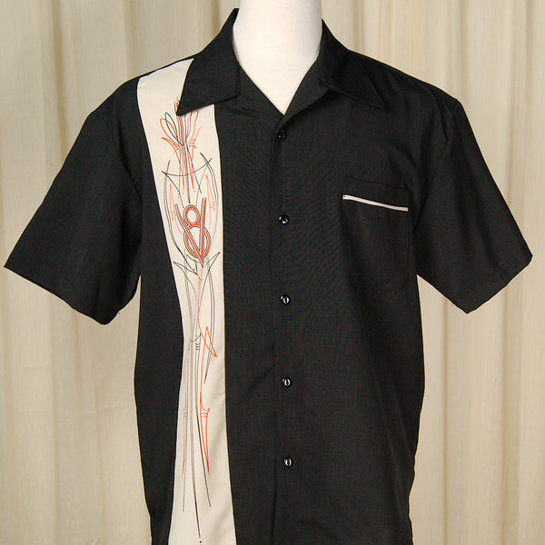 Steady Clothing V-8 Pinstripe Panel Shirt for sale at Cats Like Us - 4
