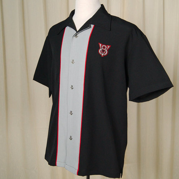 V8 Piped Bowling Shirt - Cats Like Us