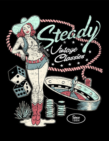 Vintage Cowgirl Classics T by Steady Clothing : Cats Like Us