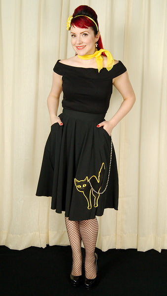 Halloween Black Cat Skirt by Sweet Midnight : Cats Like Us