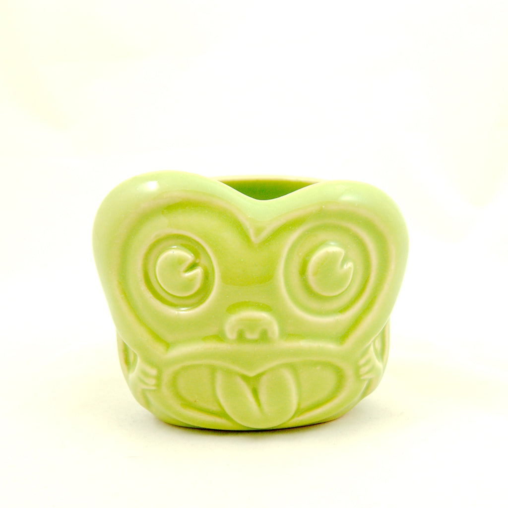 Green Minky Monkey Tiki Mug
