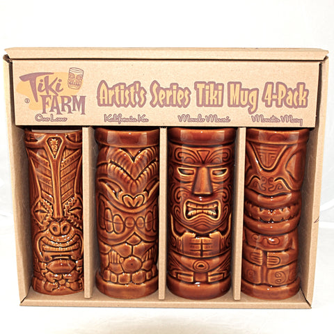 Tiki Mugs Artist Series 4 pack