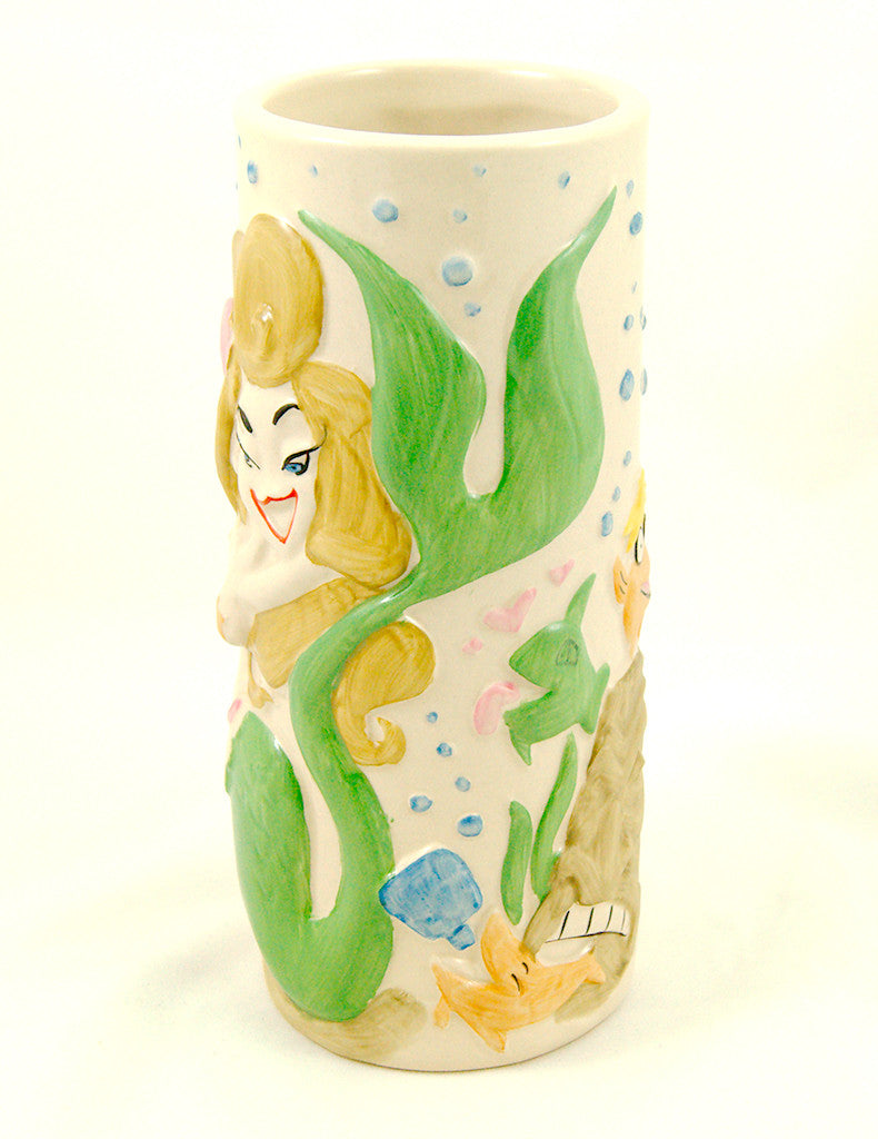 Tiki Farm Troubles Mermaid Tiki Mug for sale at Cats Like Us - 1
