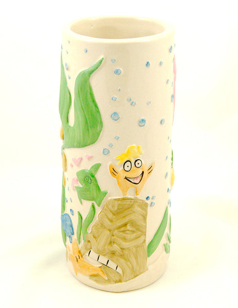 Tiki Farm Troubles Mermaid Tiki Mug for sale at Cats Like Us - 4
