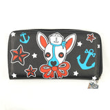 Too Fast Brand Ahoy Sailor Duchess Dog Wallet