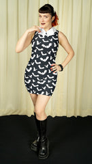 Bat Collar Batty Mini Dress
