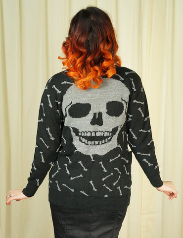 Glitter Bones Long Cardigan - Cats Like Us