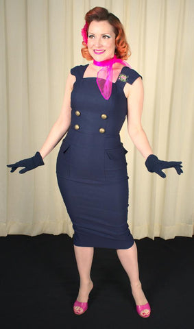 Navy Barbie Sensation Dress - Cats Like Us