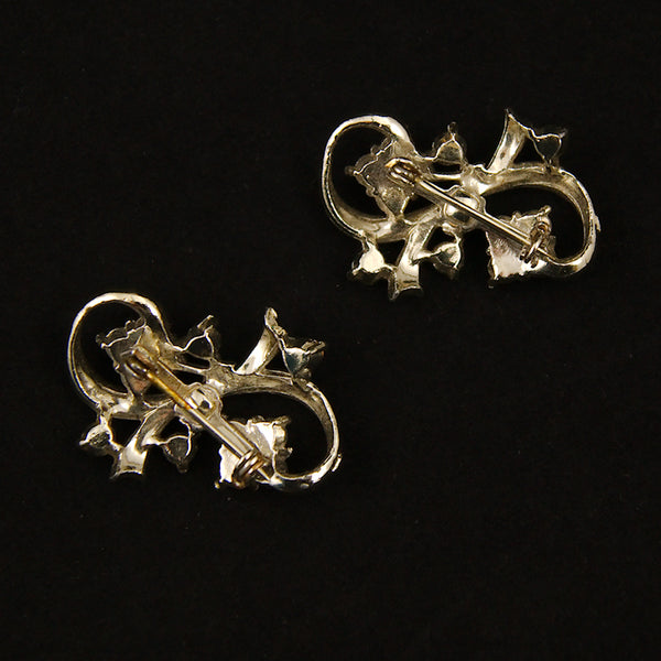 Rhinestone Bow Scatter Pins