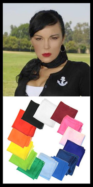 Viva Dulce Marina Royal 50s Neck Scarf for sale at Cats Like Us - 2