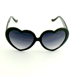 Black Heart Shaped Sunglasses by Viva Dulce Marina