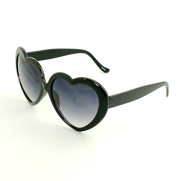 Black Heart Shaped Sunglasses