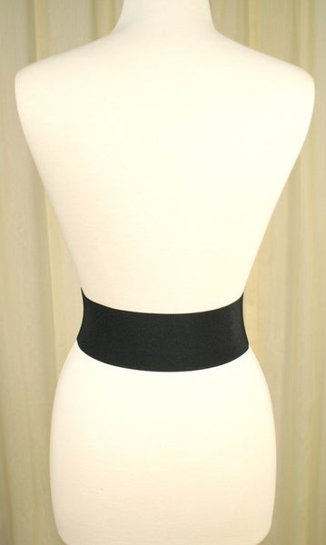 Black Patent Elastic Cinch Belt by Viva Dulce Marina : Cats Like Us