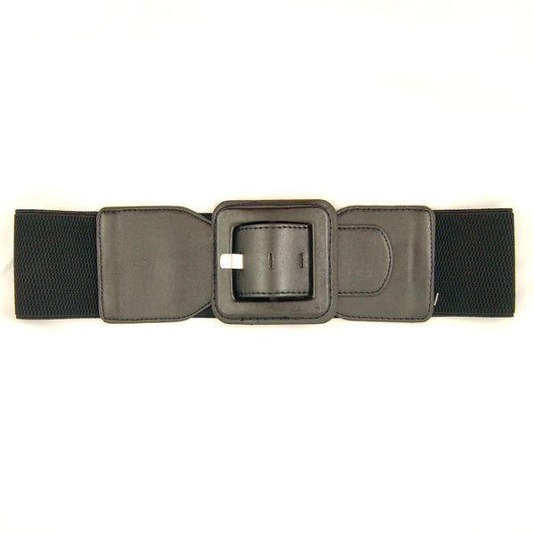 Black Square Cinch Belt