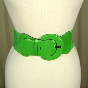 Lime Green Patent Cinch Belt - Cats Like Us