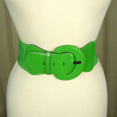 Lime Green Patent Cinch Belt