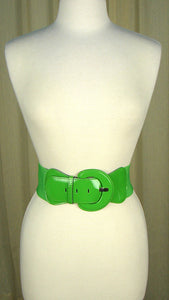 Lime Green Patent Cinch Belt by Viva Dulce Marina : Cats Like Us