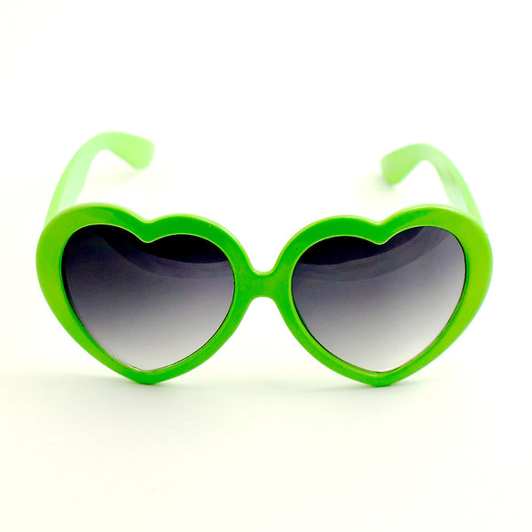 Lime Heart Shaped Sunglasses - Cats Like Us