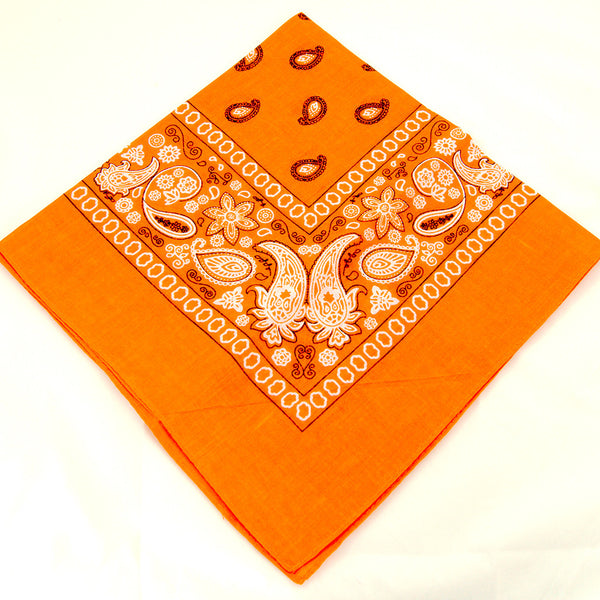 Viva Dulce Marina Orange Bandana for sale at Cats Like Us - 3