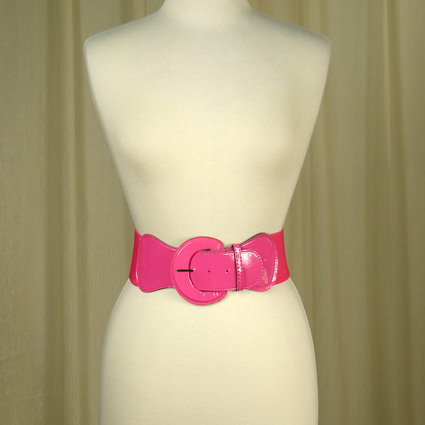 Viva Dulce Marina Pink Elastic Cinch Belt for sale at Cats Like Us - 2
