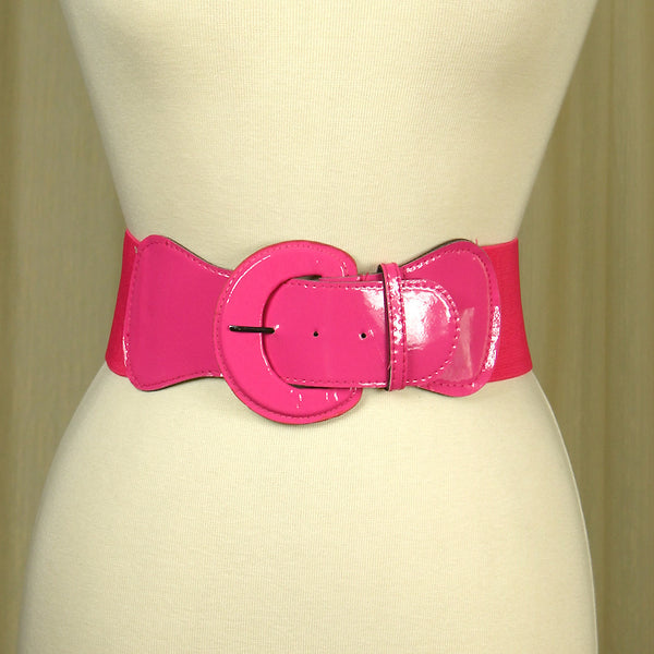 Pink Elastic Cinch Belt