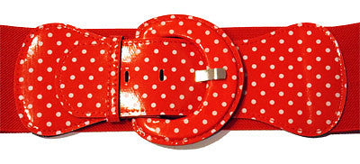 Viva Dulce Marina Red Polka Dot Cinch Belt for sale at Cats Like Us - 2