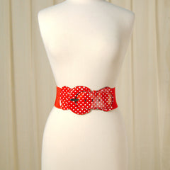 Red Polka Dot Cinch Belt