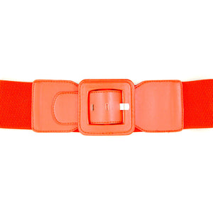 Red Square Cinch Belt by Viva Dulce Marina : Cats Like Us