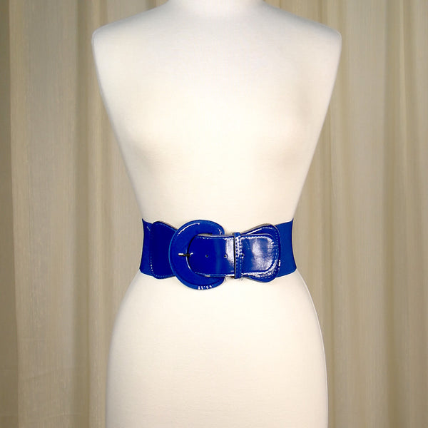 Viva Dulce Marina Royal Blue Elastic Cinch Belt for sale at Cats Like Us - 3