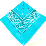 Viva Dulce Marina Turquoise Bandana for sale at Cats Like Us - 2