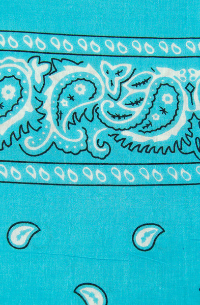 Viva Dulce Marina Turquoise Bandana for sale at Cats Like Us - 1