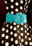 Viva Dulce Marina Turquoise Elastic Cinch Belt for sale at Cats Like Us - 5